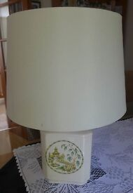 TABLE LAMP WITH ORIENTAL GARDEN SCENE