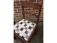 Lovely Wooden Dining/Living/Bedroom chair painted in any colour & reupholstered in any fabric
