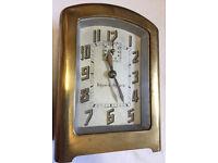 Antique Art Deco Original French brass cased alarm clock by Bayard working