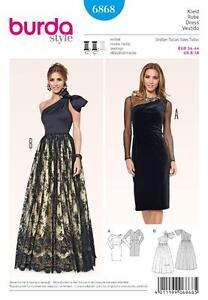 BURDA SEWING PATTERN PROM EVENING BRIDAL DRESS  GOWN 8 - 18 6868 HALF PRICE