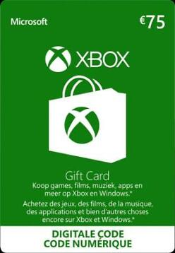 Xbox Gift Card €75 - Xbox Live Download Code