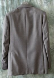 Gents Grey Polyester and Wool Suit
