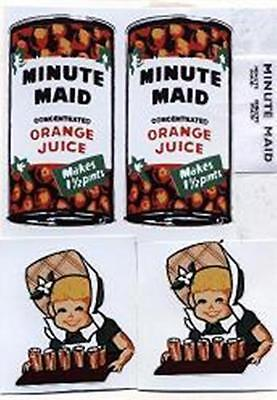 TONKA  MINUTE  MAID  BOX  VAN  DECAL  SET