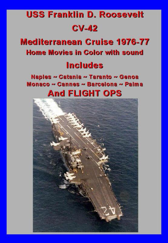 USS FRANKLIN D ROOSEVELT CV-42 1976-77 MED CRUISE VIDEO