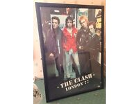 The Clash framed poster