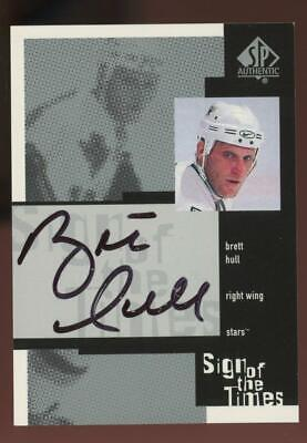 2000 Upper Deck SP Authentic Sign Of The Times Brett Hull Auto Autograph
