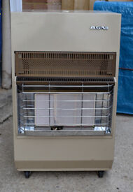 AGNI Gas Portable Ceramic Space Heater With Gas Bottle & Regulator