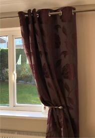 Set of Plum curtains originally from Next