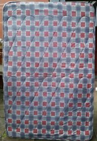 small-double mattress (4' feet wide) 122cm x 190cm. Used but good condition.