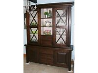 Dark solid wood cabinet
