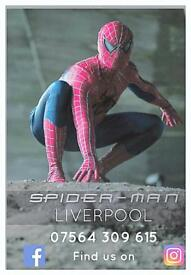 Spider-Man Liverpool kids party's & special events.
