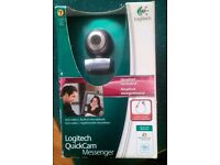 Logitech quickcam messenger Webcam headset included - boxed used exc cond.
