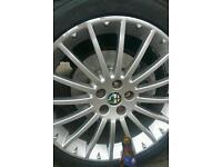 Alfa romeo 17 inch alloy wheels, set of 4