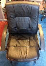 office meting boardroom reception chair faux leather ( 3 available )