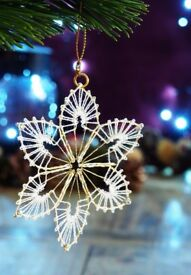 Handmade Christmas tree decoration.