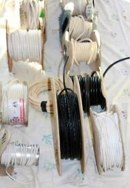 Electrical cable some pre Reg's (Red & Black sheath conductors) Collect Only