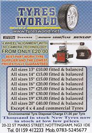 Part Worn tyres ( tyres world) 01159412233