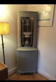 Shabby Chic Annie Sloan French Grey Painted Corner Unit For Sale