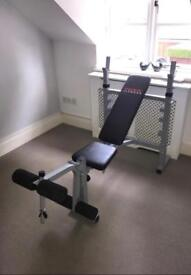 York weight bench and leg press