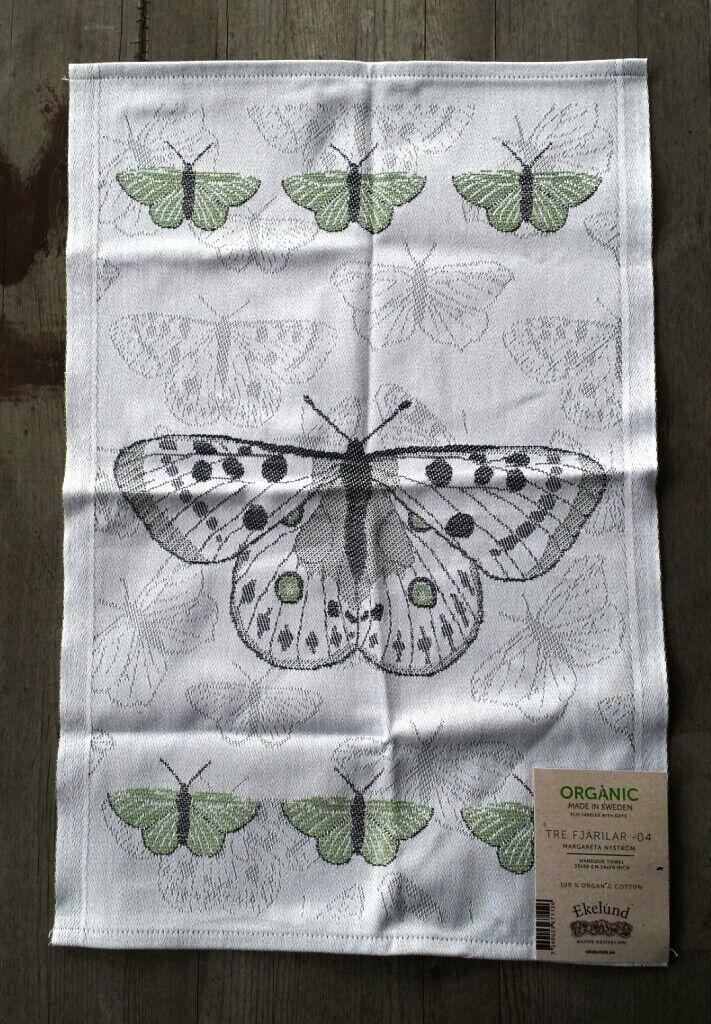 Ekelund Sweden 100% Organic Cotton Tre Fjarilar Hand Towel B