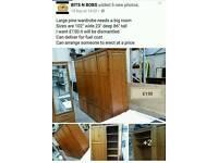 Huge pine wardrobe