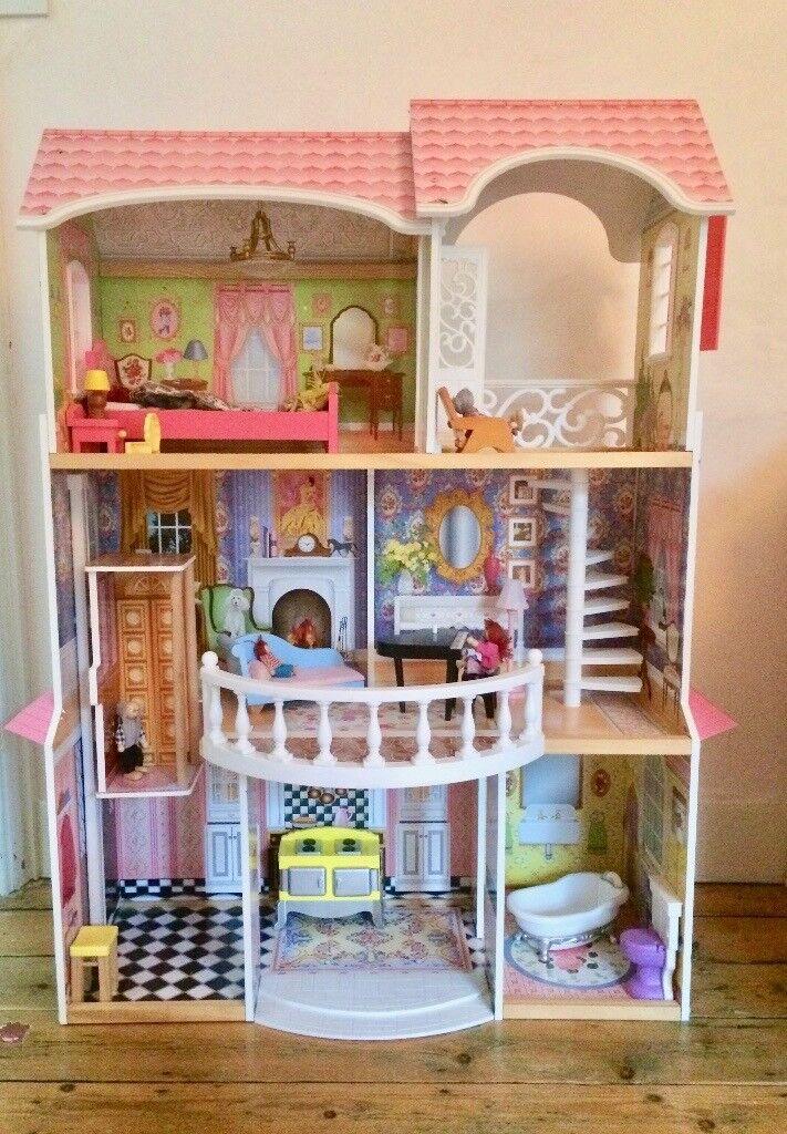 Kidkraft Magnolia Mansion Wooden Dolls House Good As New