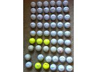 JOB LOT of Over 50 Branded Golf Balls - Titleist & Srixon ProV1, Z Stars etc.