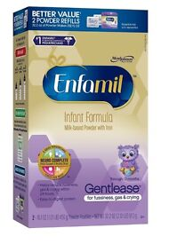 Enfamil Gentlease Infant Formula for Fussiness, Gas and Crying , 2 Powder Refills 32.2 oz