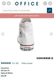 Brand new Mens white converse all star size 10