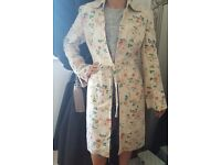 Vintage floral, summer rose Laura Ashley coat. Size 14.