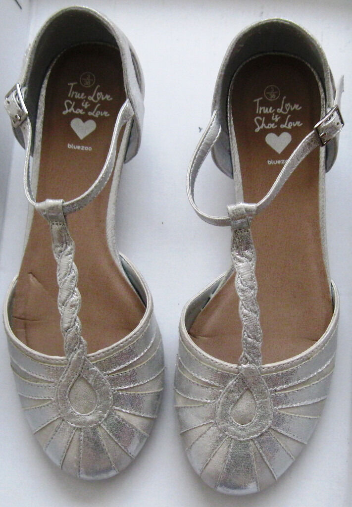 fe89b7cb33f Girls Silver Shoes by Next and Bluezoo