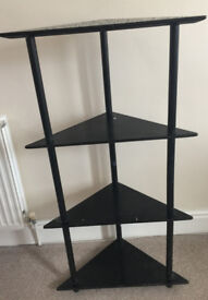 Black Corner Shelf Unit