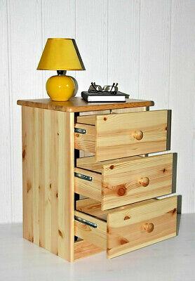 Massivholz Nachtkommode Kiefer lackiert Nachtschrank Nachttisch Kommode Schrank - Kiefer Nachttische