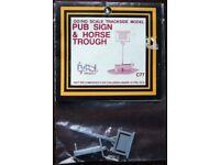 Dapol OO/HO Scale Trackside Model - Pub Sign & Horse Trough