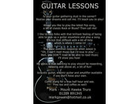 Guitar Lessons - Learning to play or need some help? Free introduction - Mount Hawke Truro