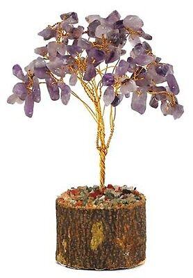 """Amethyst Purple 6.5"""" Gemstone Gem Decorative Wire Desktop MONEY Tree FENG SHUI"""