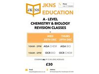GCSE AND A LEVEL REVISION CLASSES CRASH COURSE BIOLOGY CHEMISTRY PHYSICS TUITION MODULES TAUGHT
