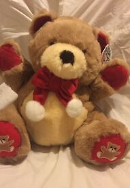 """Super soft Christmas Teddy new with tags 14"""" (36cm)"""