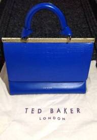 Brand New With Tags Ted Baker Blue Tote Handbag Bag