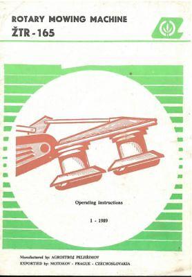 Agrozet Zetor Ztr165 Mower Operators Manual - Ztr 165