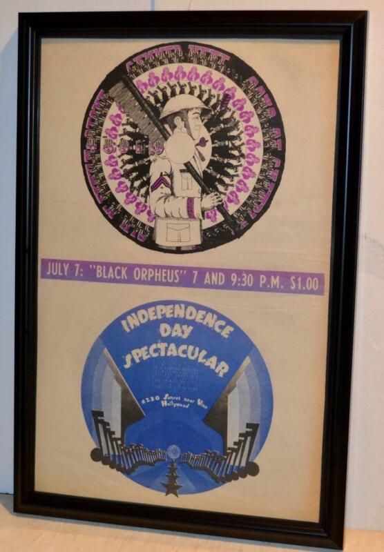 SLY FAMILY STONE CANNED HEAT 1968 INDEPENDENCE CONCERT FRAMED POSTER / AD