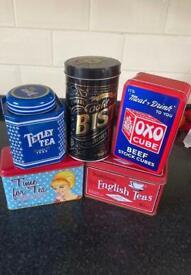 Retro storage tins