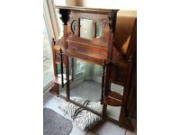 Victorian Edwardian Antique Mirror Large