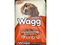 WAGG WORKER CHICKEN AND VEGETABLE WORKER COMPLETE PET DOG FOOD 17KG BAG
