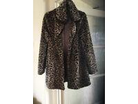 Fur jacket Miss Selfridge size S