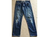 GREAT PAIR AUTHENTIC VINTAGE DIESEL INDUSTRIES BLUE JEANS 36W 31L XL STRAIGHT CUT HIPSTER GENUINE