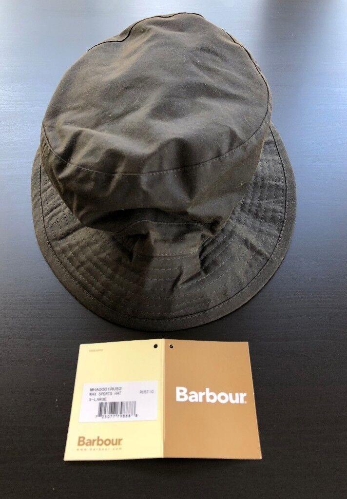 d3c444e40a5 BRAND NEW - Barbour Olive Wax Sports Hat (XX-Large) - RRP  £27 -  MHA0001RU52