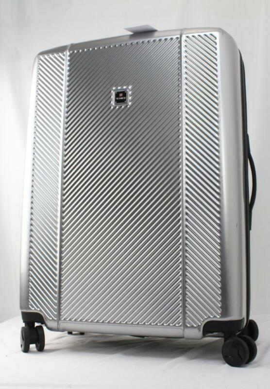 """TAG SPECTRUM 28"""" HARDSIDE SPINNER SUITCASE SILVER"""