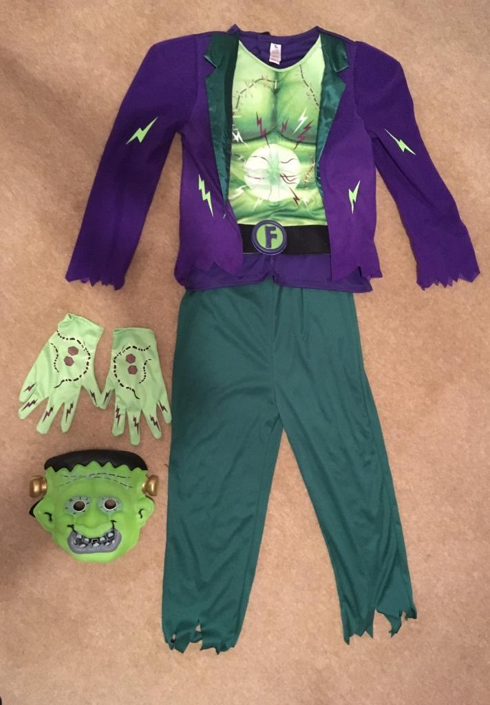 Halloween Frankenstein costume. Never used aged 11-12 years