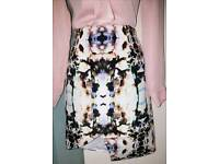 Finders Keepers Skirt Designer XS UK 6-8 New Floral Asymmetric